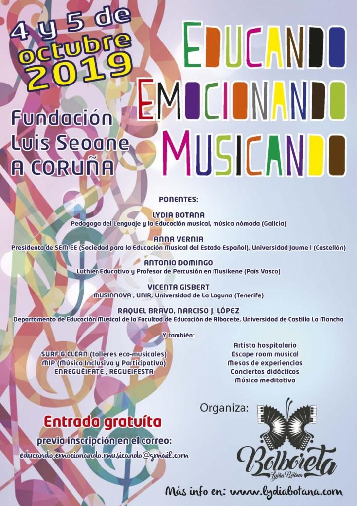 EDUCANDO, EMOCIONANDO, MUSICANDO cartel