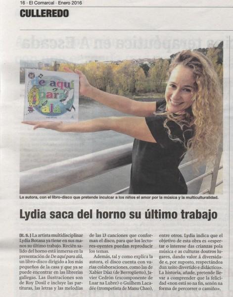LYDIA EL COMARCAL 14ENERO2016 copia